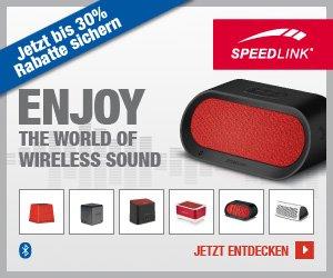 30% Rabatt auf alle Speedlink Bluetooth Speaker bei Amazon und OTTO