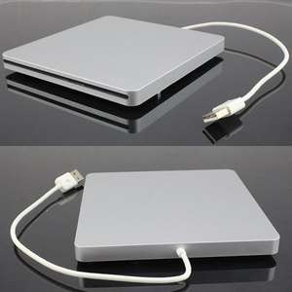 Super Slim USB 2.0 Slot-in DVD-RW externes Gehäuse für Macbook Laufwerk