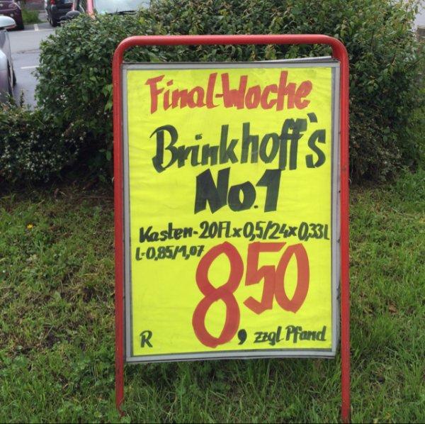 [Dortmund] Brinkhoff's No.1 für nur 8,50€ pro Kasten