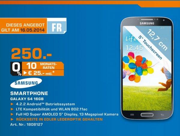 [Lokal] Samsung Galaxy S4 für 250€ am 16.05.2014, Saturn Stuttgart