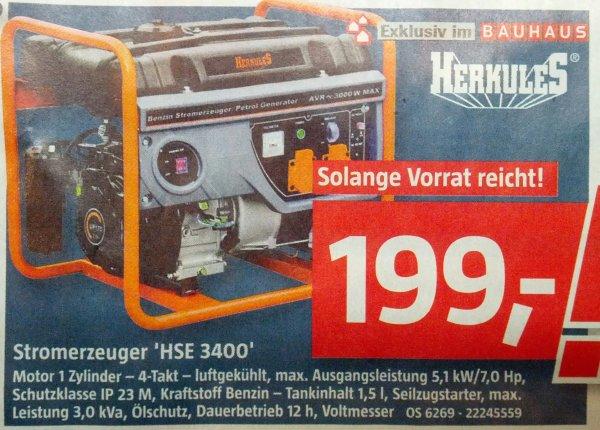 [BAUHAUS] Stromerzeuger HSE 3400 - 5,1kW