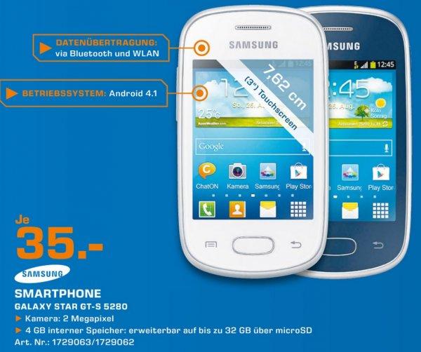 Samsung Galaxy Star GT-S5280 für 35€ Lokal [Saturn Köln]