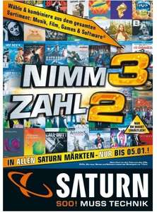 [Saturn Köln] Nimm 3 zahl 2 (Musik/Film/Games/Software) 14.-17.5