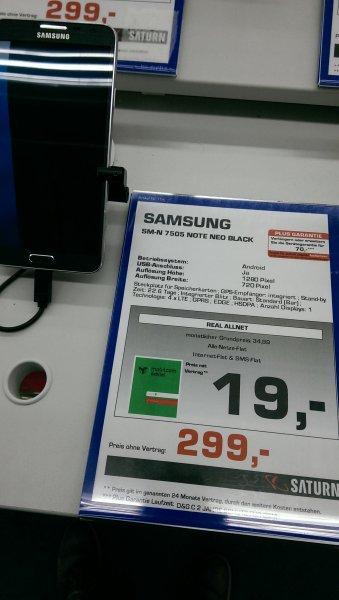 Saturn Bad Homburg - Samsung Note 3 Neo für 299,-€