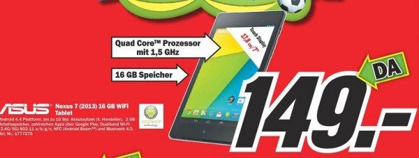 [Lokal] Mediamarkt ESSEN Asus Google Nexus 7 (2013) WiFi 16GB schwarz 149 Euro