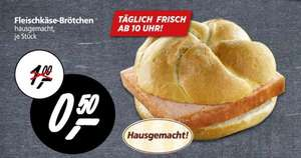 [Lokal Real Detmold] Fleischkäse-Brötchen 0,50€ / 50% günstiger