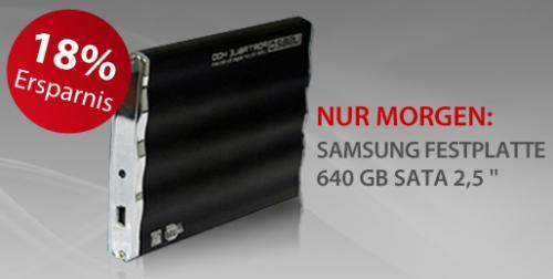"640 GB externe 2,5"" USB2.0 SAMSUNG SPINPOINT M7E (HM641JI), 8 MB, 5400 rpm, SATA-300 [@meinpaket.de] für 39,95 zzgl. 3,90 Versand"