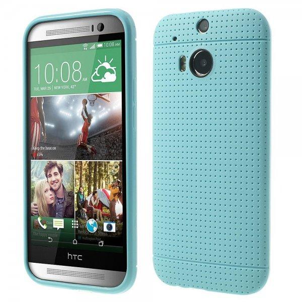 Schutzhülle HTC One M8 Hülle weich Löcher hellblau für 0,50 Euro inklusive Versand @Amazon.de