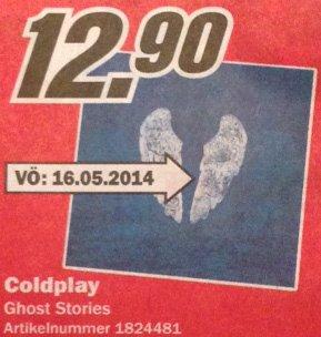 (Media Markt, Duisburg) Ghost Stories 12,90 ab 16.09.2014
