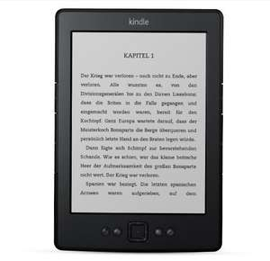 KINDLE eReader WiFi 6 Zoll @ Saturn.de ab EUR 39,00
