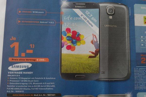 [Lokal] Saturn Bielefeld: Samsung Galaxy S4 nur 299,00 Euro