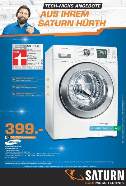 [Saturn Hürth] SAMSUNG Waschmaschine WF 57846 P53/XEG // 7 kg, A+++, 1400 U/min //