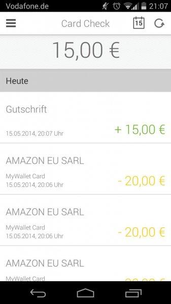 myWallet mit 55€ Gewinn für alle die beim ersten Deal zugeschlagen haben bzw. 30€ für alle anderen