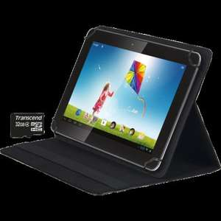 "HANNspree Tablet (SN1AT71B) Bundle: 10.2"" IPS HD Ready,1.2Ghz Quadcore, 1GB Ram/16GB MMC, Android 4.2 + 32 GB SD Karte + Tasche für 105 €"
