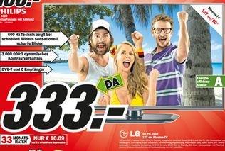 """[Lokal Aschaffenburg] Mediamarkt - LG 50PN4503 Plasma-TV 50"""" 127cm für 333,- Euro"""