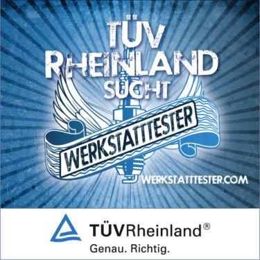 TÜV Rheinland sucht wieder Werkstatttester - bis 250 € sparen