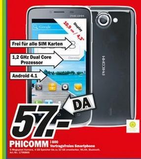 Mediamarkt Würzburg ! Phicomm i600 zu 57,00 €