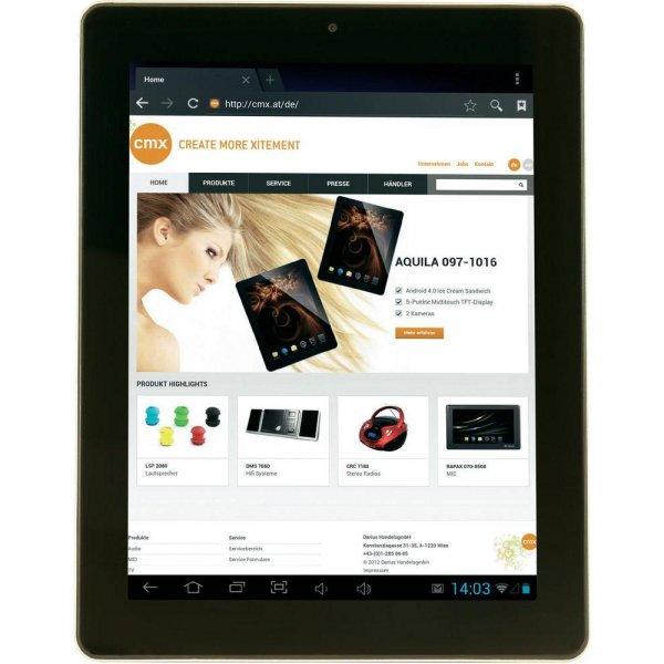 """CMX CLANGA Android-Tablet 9,7 """" Retina schwarz"""