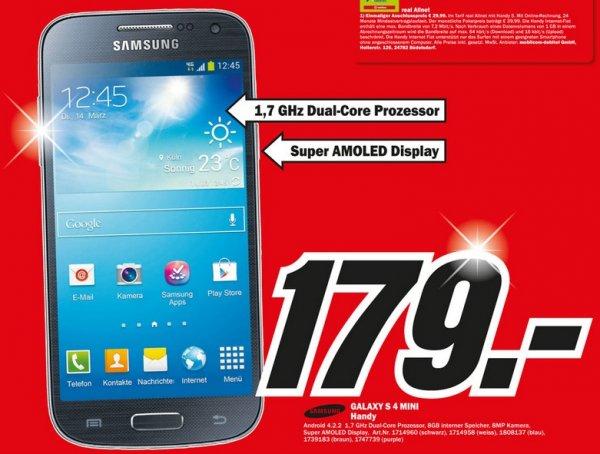 Samsung Galaxy S4 Mini für 179€,Kinect Sports: Rivals (Xbox One) für 39 Lokal [Mediamarkt Bad Dürrheim]