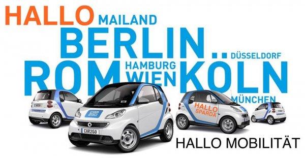 car2go Berlin 15 Freiminuten und 10 Euro rabatt bei der Registrierung nur als Sparda-Bank Berlin Kunde