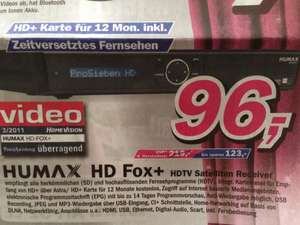 [Lokal Telepoint Hameln] Humax HD Fox+ DVB-S Receiver mit 12 Monaten HD+