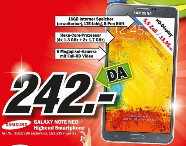 Samsung Galaxy Note 3 Neo für 242€ Lokal [Mediamarkt Friedrichshafen]