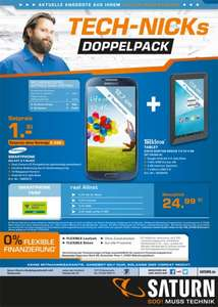 (lokal Saturn Neckarsulm) Samsung Galaxy S4 Black + TrekStor Surftab Breeze