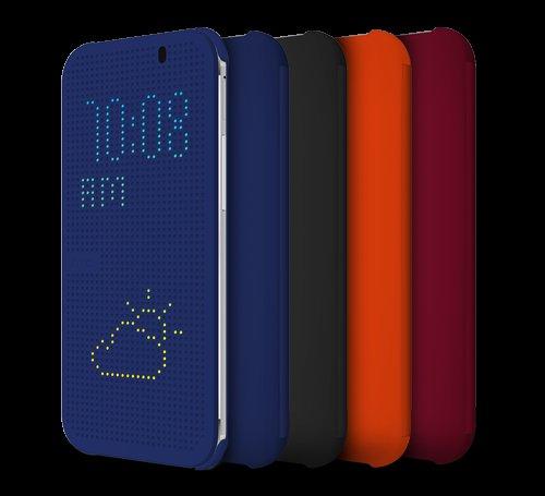 HTC Dot View Cover für HTC One (M8) (blau, orange und violet) für 24,49 Euro @Amazon.de