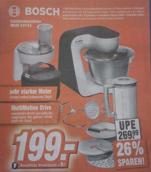 [Lokal Expert] Bosch MUM 53143 - Küchenmaschine, 900 Watt