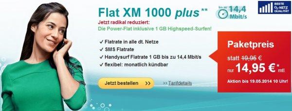 helloMobil (o2) – Allnet-Flat, SMS-Flat, 1GB Daten (bis 14,4 Mbit/s) 14,95€ + 19,95€ Anschlusspreis - 14,00€ Qipu (monatlich kündbar)