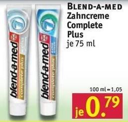 [Rossmann] Angebote und Kombinationen mit Gutscheinen u.a. Blend a med Zahncreme für 0,29€