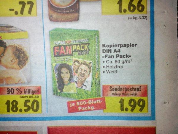 [Kaufland][Bundesweit]Kopierpapier 500 Blatt am Super-Weekend für 1,99€