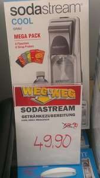 [MM München] SodaStream Cool + 4x Flaschen & 6x Sirup Mega Pack grau