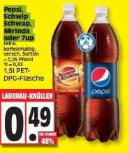 Edeka West - Pepsi,SchwipSchwap,Mirinda oder 7up für 49ct (1L=0,33ct)
