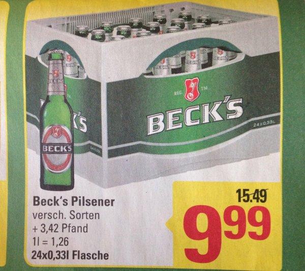 [Marktkauf Stuhr] Kasten  Beck's Pilsener verschiedene Sorten für 9,99 € zzgl Pfand