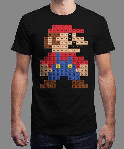 (UK) Mario Perioden System T-Shirt für 13€ @ Qwertee