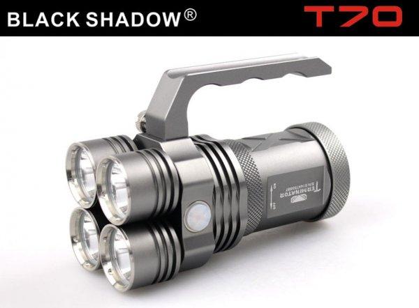 Für  Taschenlampenfreaks nur bis Dienstag 20.05.  - Blackshadow Terminator T70, glaubhafte 3500 Lumen, 4 XM-l2 LED´s für ca. 60,-€ bei wallbuys.com
