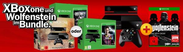 Xbox One Premium Bundle inkl. Titanfall + Wolfenstein bei MM für 499€
