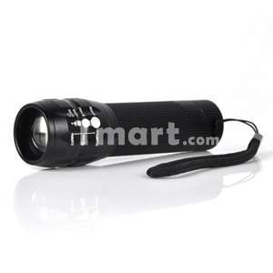[China] CREE Q5 5W 500LM 3 Modes Focusing Flashlight Torch Black