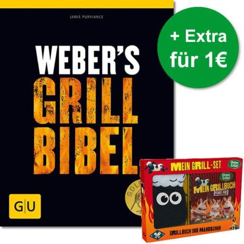 Weber's Grill-Bibel + Shaun das Schaf - Mein Grillbuch: Feuer frei für 25,95€