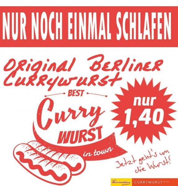Orginal Berliner Currywurst für 1,40 €