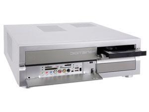 HTPC-Gehäuse DIGITAINER mit DVD-Brenner, Netzteil, Kartenleser, Frontanschlüsse im HIFI Format