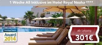 1 Woche All Inklusive 4* Hotel Hammamet (HC Award) - Tunesien - 2 Personen für 602€