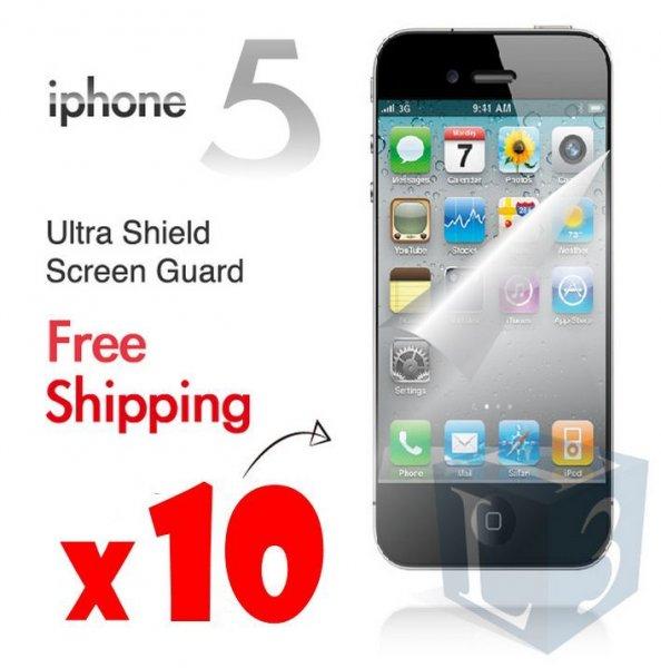 [ebay.com.au] 10 x Apple iPhone 5 Ultra Clear LCD Screen Guard Protector für ca. 1,65€
