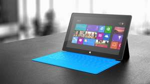 Microsoft Surface Tablet Wi-Fi 64 GB Windows 8.1 RT mit Touch Cover cyan für 249€ @cyberport