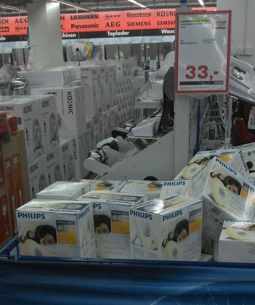 (Lokal Berlin Saturn Alex) 33 Euro statt 89,99 Euro - Philips Wake-up Light HF-3500/01