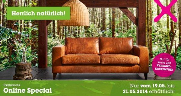 Lederwaren (Sofa, Hockr, Beistelltische uvm) jetzt günstig bei mömax