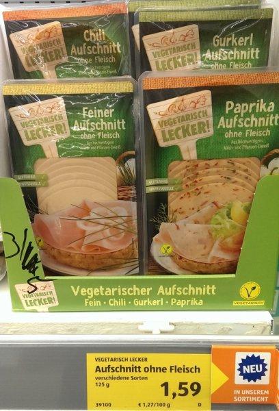 [Aldi Süd] Erweiterung des vegetarischen Sortiments um Aufschnitt und Grillprodukte