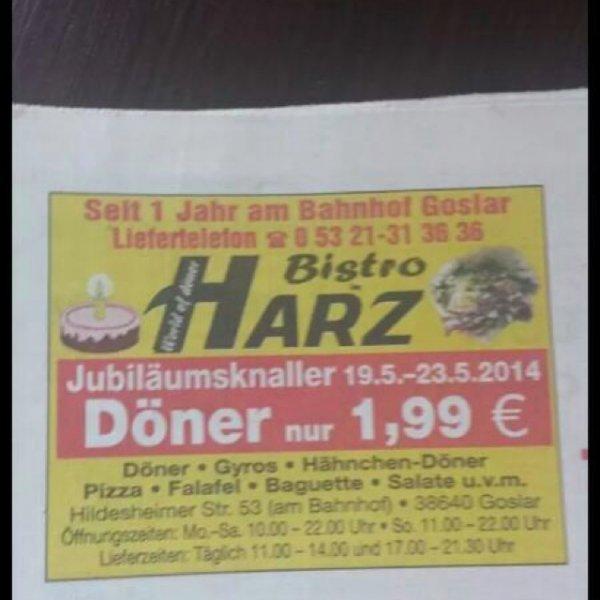Döner für 1,99€ in Goslar. Nur Regional