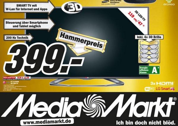 LG 47LA6208 für 399€,Samsung UE55F6470 für 745€,Bose SoundLink Mini für 149€ 25.Jahre Angebote Lokal [Mediamarkt Hamburg]